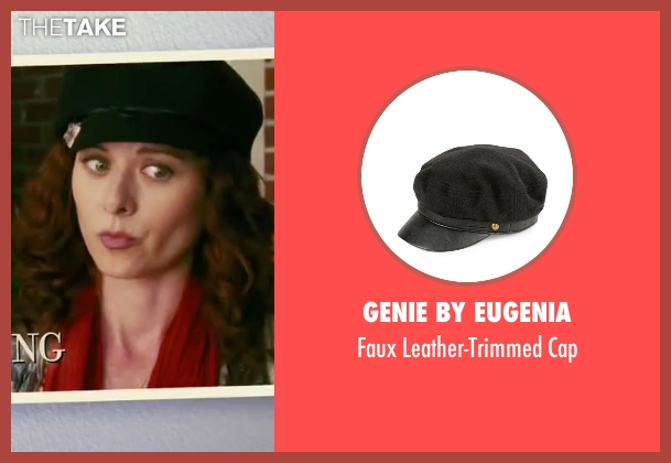 Genie By Eugenia  black cap from The Women seen with Debra Messing (Edie Cohen)