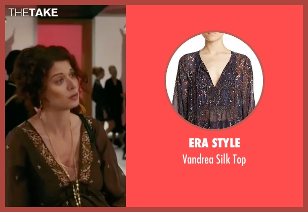 Era Style brown top from The Women seen with Debra Messing (Edie Cohen)