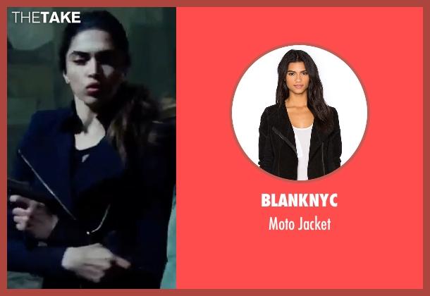BlankNYC black jacket from xXx: Return of Xander Cage seen with Deepika Padukone (Serena Unger)
