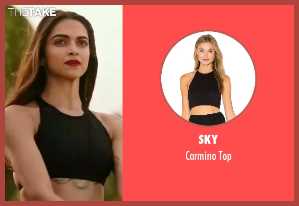 Sky black top from xXx: Return of Xander Cage seen with Deepika Padukone (Serena Unger)