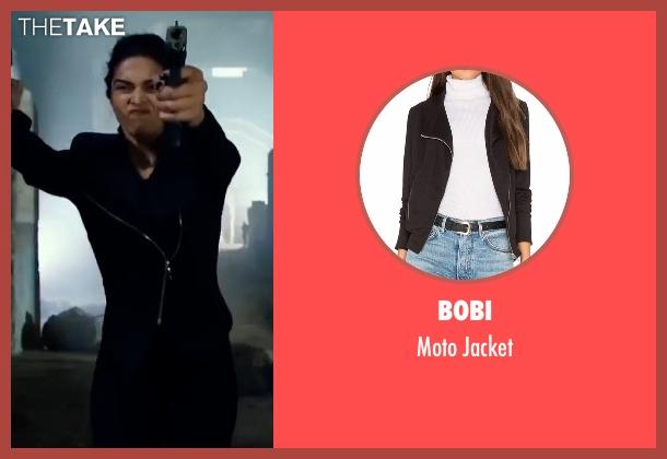 Bobi black jacket from xXx: Return of Xander Cage seen with Deepika Padukone (Serena Unger)