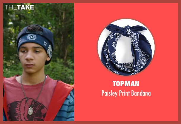 Topman blue bandana from Max seen with Dejon LaQuake (Chuy)