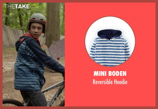 Mini Boden blue hoodie from Max seen with Dejon LaQuake (Chuy)