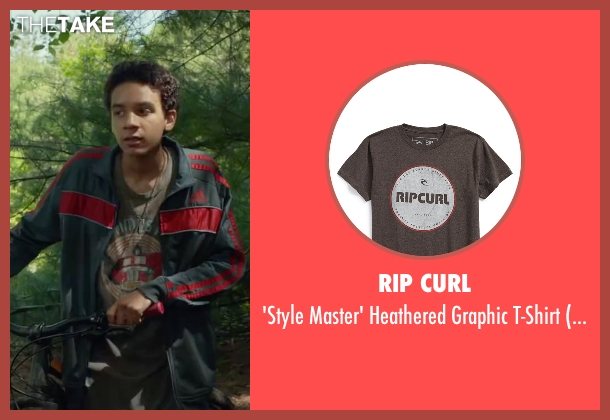 Rip Curl brown t-shirt from Max seen with Dejon LaQuake (Chuy)