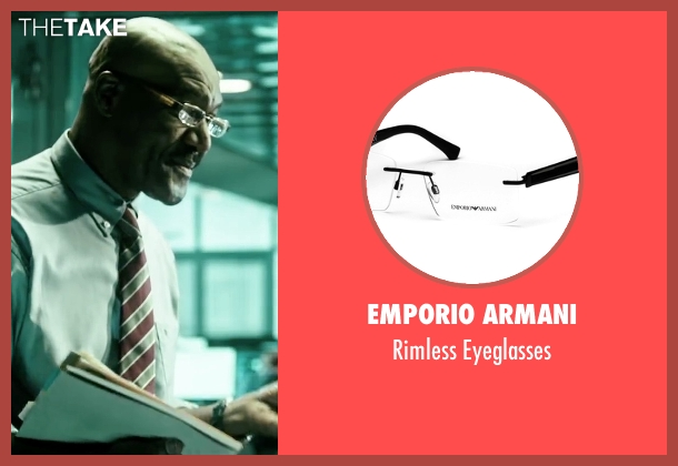 Emporio Armani gold eyeglasses from Point Break seen with Delroy Lindo (FBI Instructor)