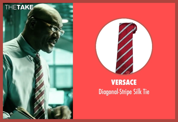 Versace red tie from Point Break seen with Delroy Lindo (FBI Instructor)