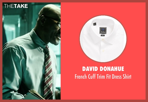 David Donahue white shirt from Point Break seen with Delroy Lindo (FBI Instructor)