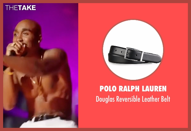 Polo Ralph Lauren black belt from All Eyez on Me seen with Demetrius Shipp Jr. (Tupac Shakur)