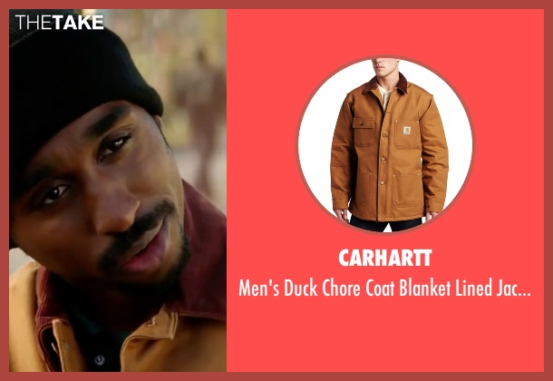 Carhartt brown jacket from All Eyez on Me seen with Demetrius Shipp Jr. (Tupac Shakur)