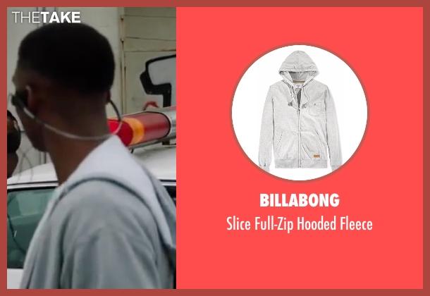Billabong gray fleece from All Eyez on Me seen with Demetrius Shipp Jr. (Tupac Shakur)