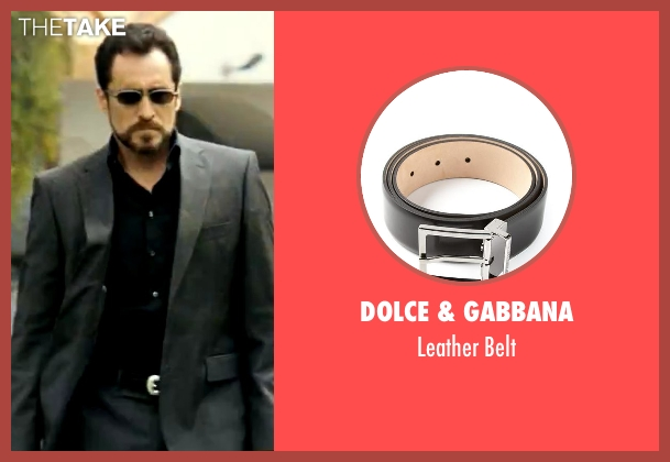 Dolce & Gabbana black belt from Savages seen with Demian Bichir (Alex)