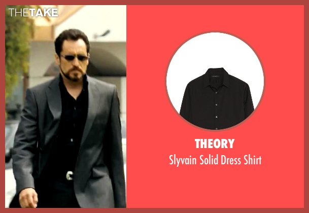 Theory black shirt from Savages seen with Demian Bichir (Alex)