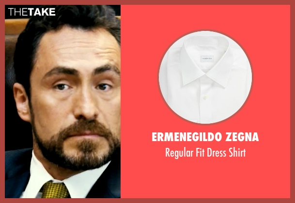 Ermenegildo Zegna white shirt from Savages seen with Demian Bichir (Alex)