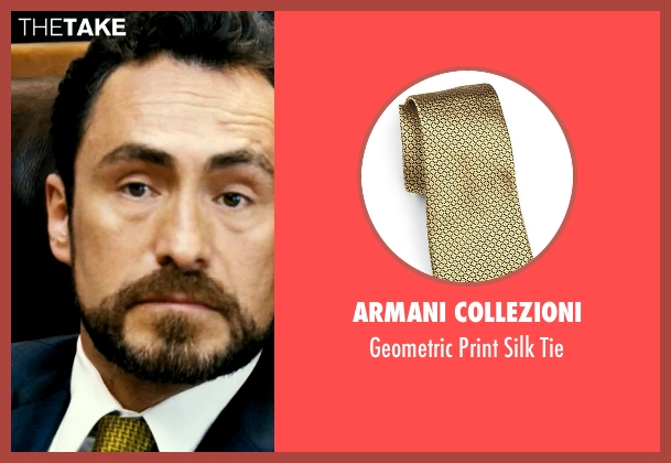 Armani Collezioni yellow tie from Savages seen with Demian Bichir (Alex)