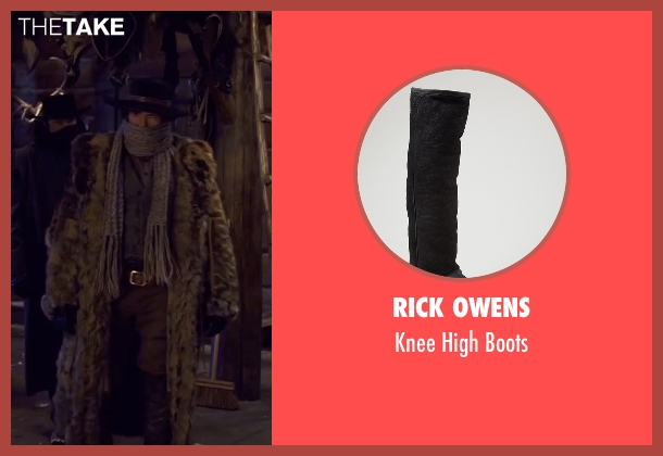 Rick Owens black boots from The Hateful Eight seen with Demian Bichir (Bob)