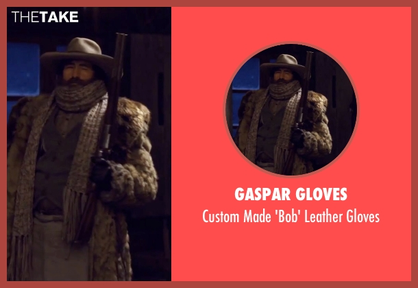 Gaspar Gloves black gloves from The Hateful Eight seen with Demian Bichir (Bob)