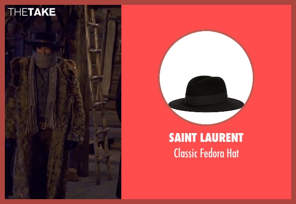 Saint Laurent black hat from The Hateful Eight seen with Demian Bichir (Bob)