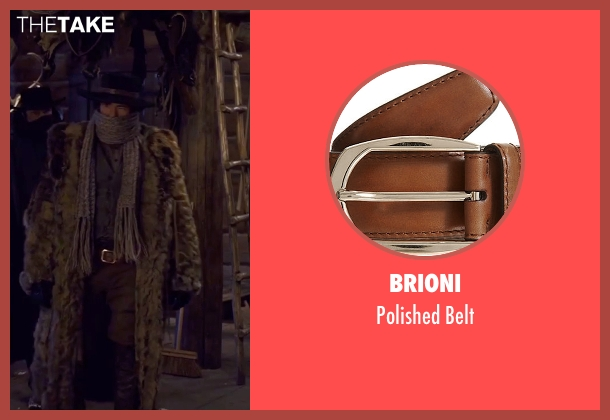 Brioni brown belt from The Hateful Eight seen with Demian Bichir (Bob)