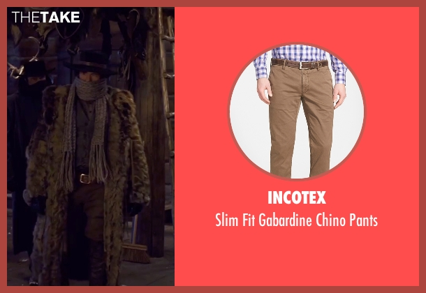 Incotex brown pants from The Hateful Eight seen with Demian Bichir (Bob)