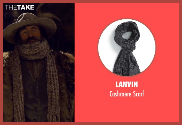 Lanvin gray scarf from The Hateful Eight seen with Demian Bichir (Bob)