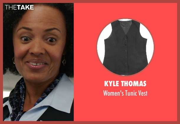 Kyle Thomas black vest from We're the Millers seen with Denielle Fisher Johnson (Flight Attendant #1)