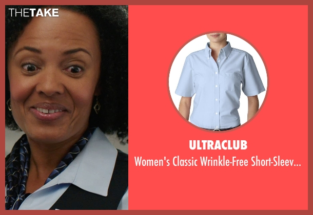 UltraClub blue shirt from We're the Millers seen with Denielle Fisher Johnson (Flight Attendant #1)