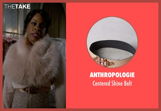 Anthropologie gold belt from Scream Queens seen with Denise Hemphill (Niecy Nash)
