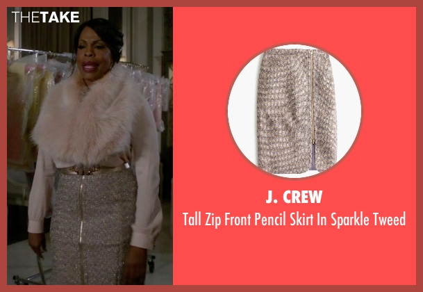 J. Crew white tweed from Scream Queens seen with Denise Hemphill (Niecy Nash)