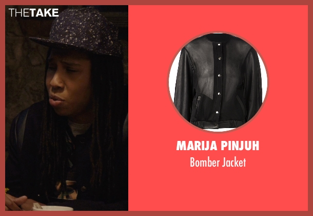 Marija Pinjuh black jacket from Master of None seen with Denise (Lena Waithe)