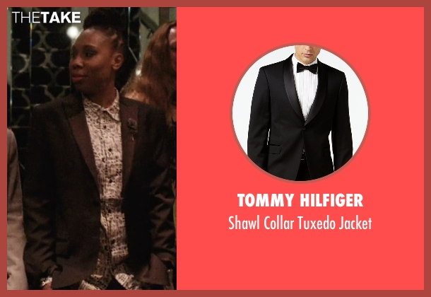 Tommy Hilfiger black jacket from Master of None seen with Denise (Lena Waithe)