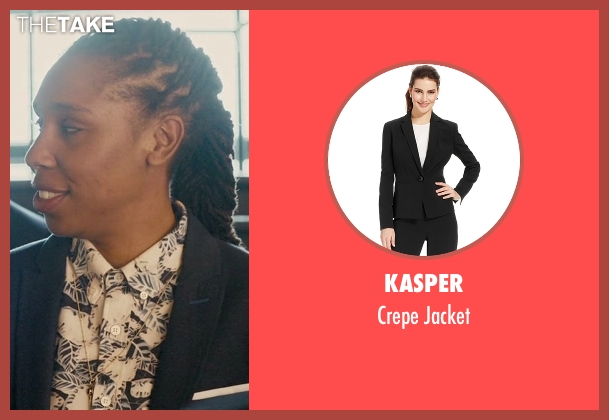 Kasper black jacket from Master of None seen with Denise (Lena Waithe)