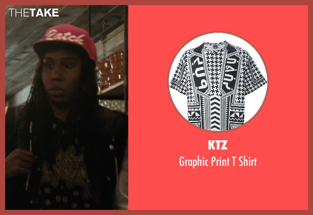 Ktz black shirt from Master of None seen with Denise (Lena Waithe)