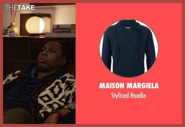 Maison Margiela blue hoodie from Master of None seen with Denise (Lena Waithe)