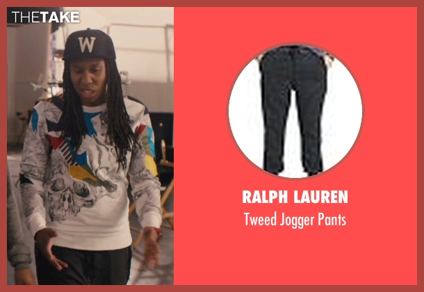 Ralph Lauren gray pants from Master of None seen with Denise (Lena Waithe)