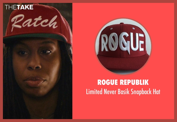 Rogue Republik red hat from Master of None seen with Denise (Lena Waithe)