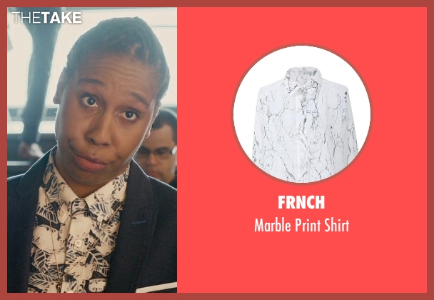 FRNCH white shirt from Master of None seen with Denise (Lena Waithe)