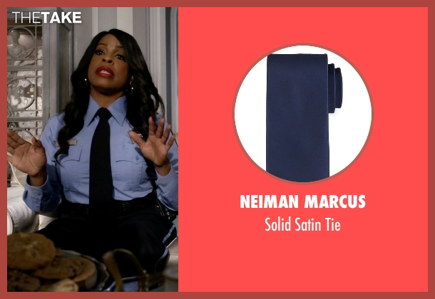 Neiman Marcus blue tie from Scream Queens seen with Denise (Niecy Nash)
