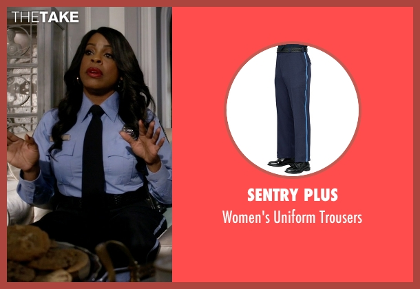 Sentry Plus blue trousers from Scream Queens seen with Denise (Niecy Nash)