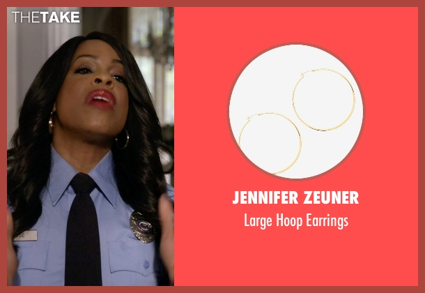 Jennifer Zeuner gold earrings from Scream Queens seen with Denise (Niecy Nash)