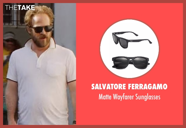 Salvatore Ferragamo black sunglasses from Flaked seen with Dennis (David Sullivan)