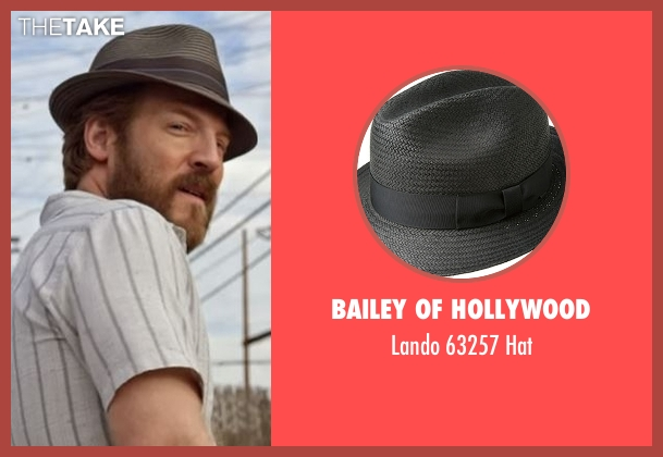 Bailey Of Hollywood gray hat from Flaked seen with Dennis (David Sullivan)