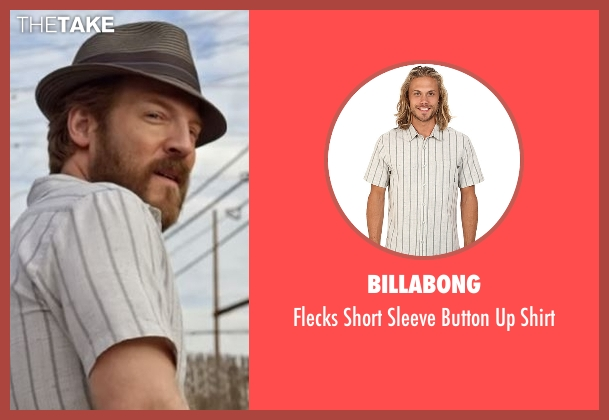 Billabong white shirt from Flaked seen with Dennis (David Sullivan)