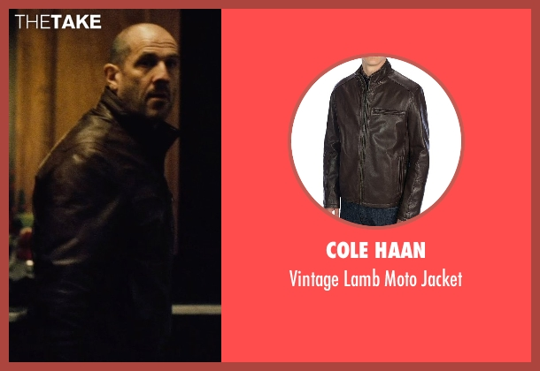 Cole Haan brown jacket from Run All Night seen with Dennis Rees (N.Y.P.D. Officer Schumer)