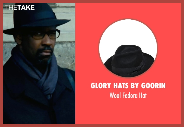 Glory Hats by Goorin black hat from Safe House seen with Denzel Washington (Tobin Frost)