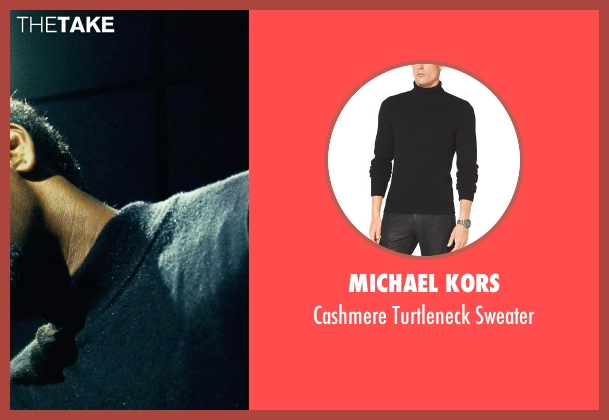 Michael Kors black sweater from Safe House seen with Denzel Washington (Tobin Frost)