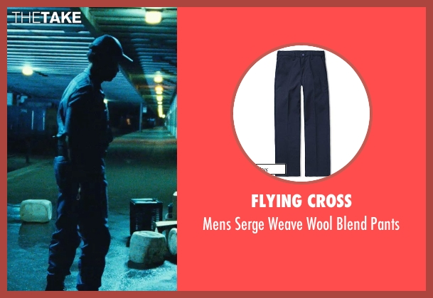 Flying Cross blue pants from Safe House seen with Denzel Washington (Tobin Frost)