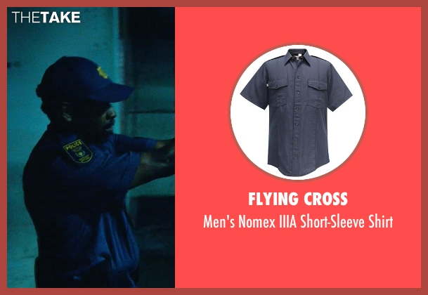 Flying Cross blue shirt from Safe House seen with Denzel Washington (Tobin Frost)