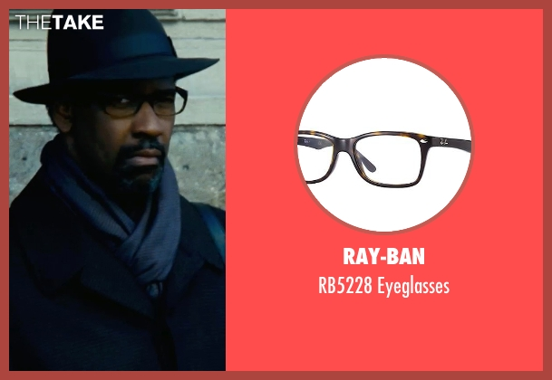 Ray-Ban brown eyeglasses from Safe House seen with Denzel Washington (Tobin Frost)