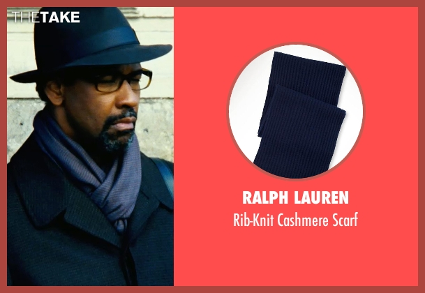 Ralph Lauren purple scarf from Safe House seen with Denzel Washington (Tobin Frost)