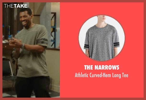 The Narrows gray tee from Barbershop: The Next Cut seen with Deon Cole (Dante)